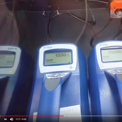 P-Trak Particle Counters in Action at TCTShow 2019