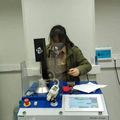 Filter testing of materials for masks and respirators helps in determining their efficacy in preventing coronavirus transmission