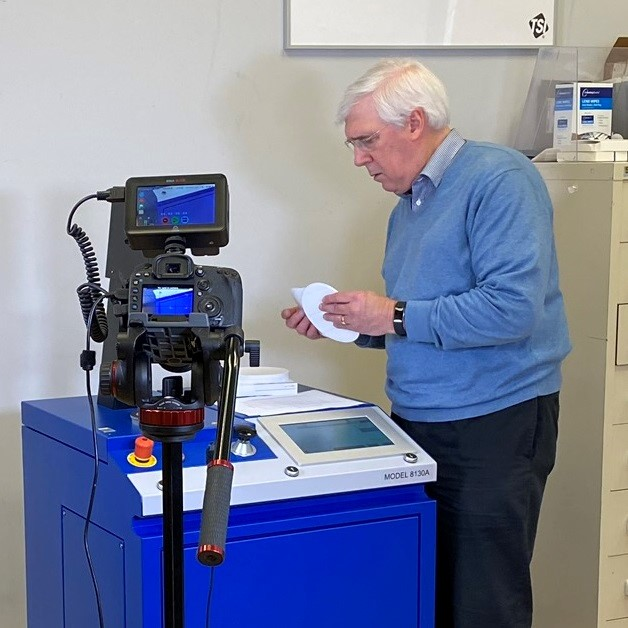 TSI's Tim Johnson supports customers in China with remote assistance for new filter tester orders